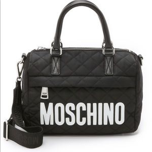 Moschino Black Quilted Nylon Bag